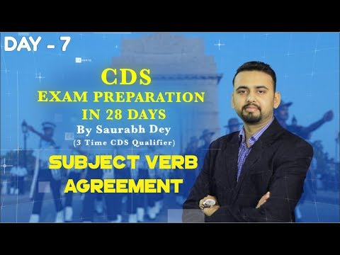 CDS Exam Preparation   Subject Verb Agreement   Day - 7   Online Coaching For CDS