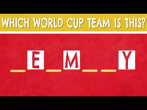 Guess The WORLD CUP Team with Missing Letters(Part 1) | Football Quiz
