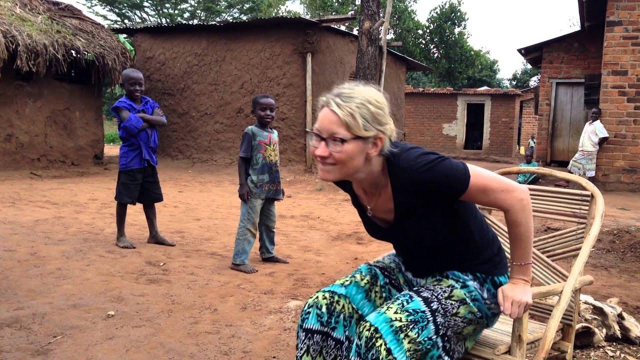 Chasing kids in Uganda