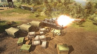 600mm Monster Siege Mortar In Action | Men of War: Assault Squad 2 Gameplay