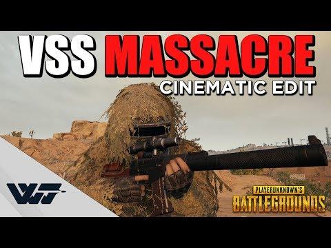 VSS MASSACRE - Insane VSS Only cinematic gameplay - PUBG