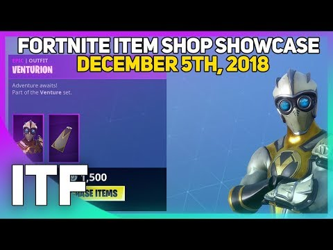 Fortnite Item Shop VENTURION IS BACK! [December 5th, 2018] (Fortnite Battle Royale)