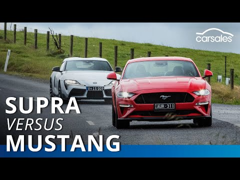 2019 Ford Mustang GT V Toyota Supra GT Comparison Test | Carsales