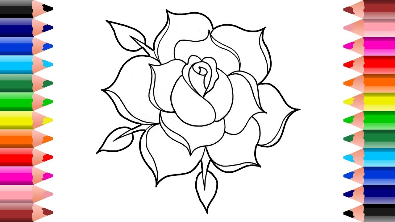 how to draw a rose - 1280×720
