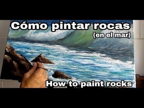 Cómo pintar rocas (en el mar) al óleo.