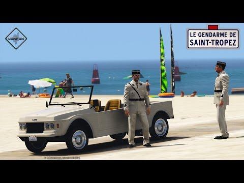 GTA 5 LSPDFR - GENDARMERIE - CITROEN MEHARI - PATROUILLE 13 - ST-TROPEZ DE LOS SANTOS