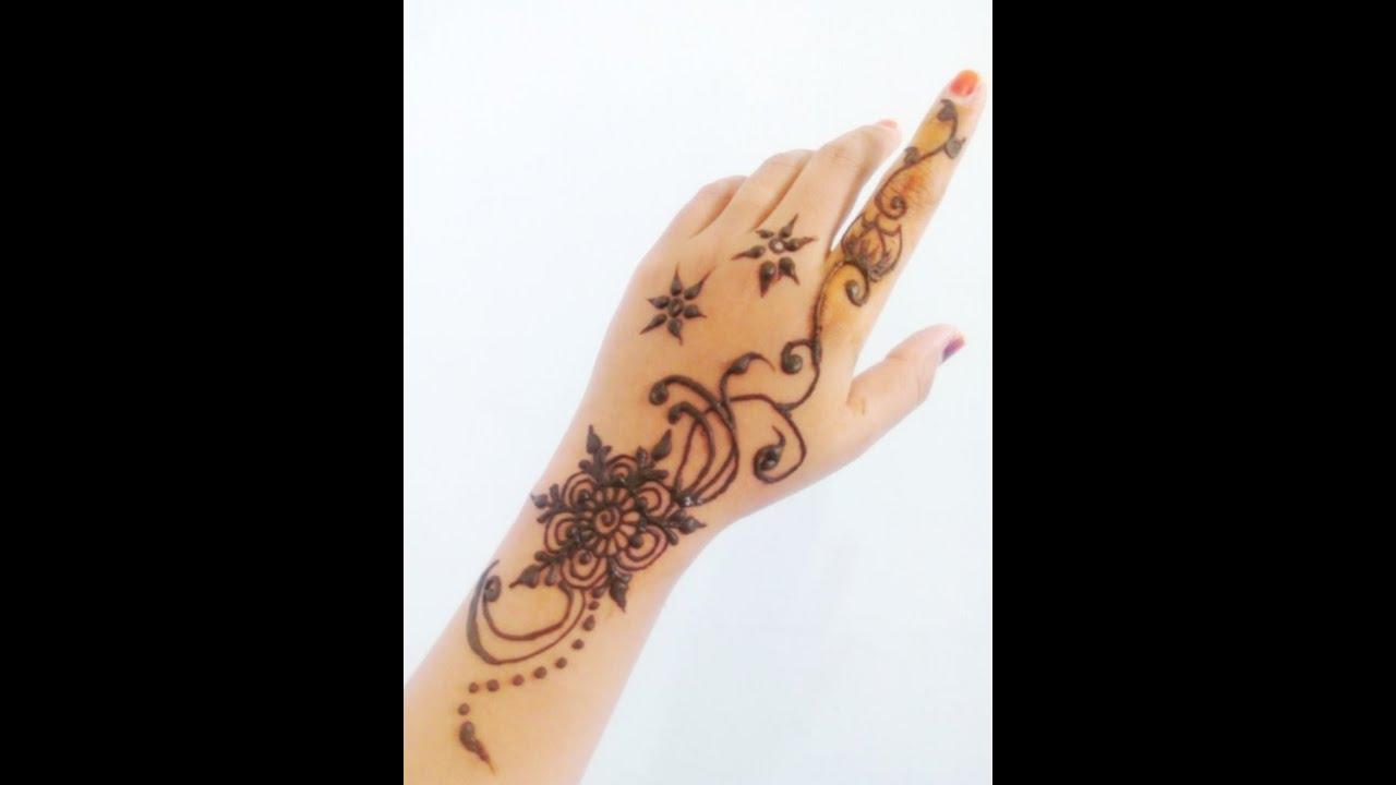Easy Simple Henna Design Untuk Pemula 3 Youtube