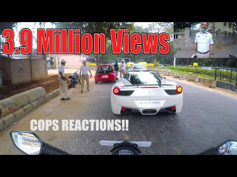 COPS Reaction seeing a ferrari in BANGALORE | INDIA | #26