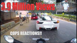 COPS Reaction seeing a ferrari in BANGALORE   INDIA   #26 thumbnail