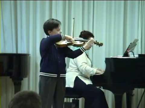 Stefan Tarara (12) and Lavinia Tarara: Wieniawski Scherzo tarantelle