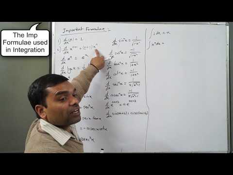 Integration - Concept & Basic Formula of Indefinite Integral in Hindi(Lecture 1)