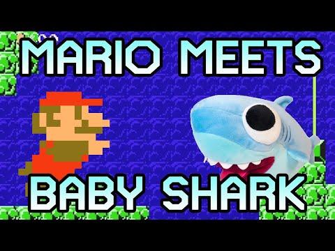 Baby Shark Dance IN MARIO! Best Baby Shark Remix yet.