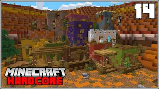 Minecraft Hardcore Let's Play - MY BEST WOOL FARM EVER!!! - Episode 14