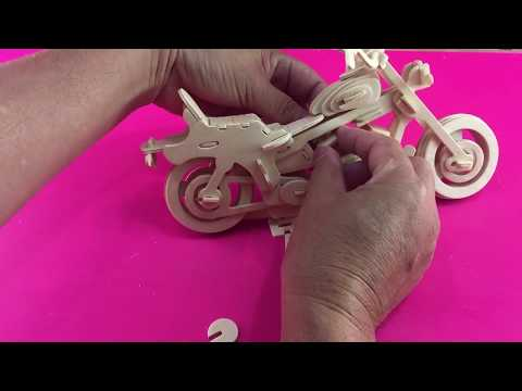 DIY 3D Puzzle Motorcycle HD I #1 ~ Woodcraft Construction Kit