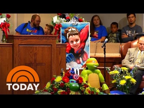 'The Worst Pain I've Ever Felt': Hundreds Mourn Jacob Hall At Superhero Funeral | TODAY