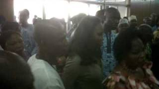 CHRISTY ESSIEN IGBOKWE LYING IN STATE @ THE NATIONAL THEATRE