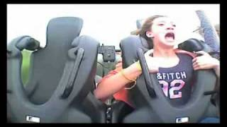 Girl terrified on ride!