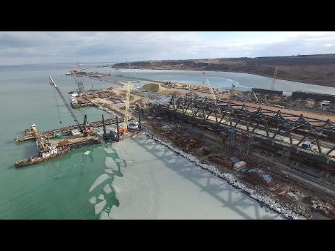 Мост через Керченский пролив 19 февраля 2017 года
