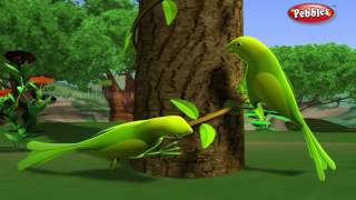 Lazy Parrots | পশু গল্প | 3D Moral Stories For Kids in Bengali | Animal Stories in Bengali