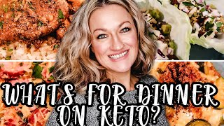 WHAT'S FOR DINNER ON KETO? | EASY KETO MEAL PREP | WHAT TO EAT KETO DIET | Suz and The Crew