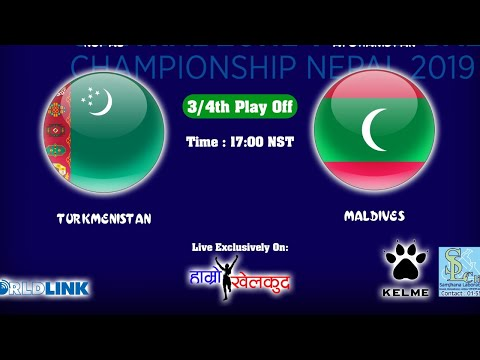 Maldives vs Turkmenistan : 3/4 Playoff - AVC Central Zone