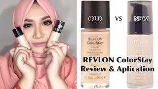 OLD VS NEW REVLON ColorStay Foundation | Quick Review & Aplication | Bahasa Indonesia | Diendiana