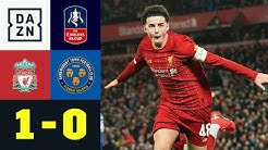 Ohne Klopp! LFC-Bubis dank Eigentor weiter: Liverpool - Shrewsbury 1:0 | FA Cup | DAZN Highlights