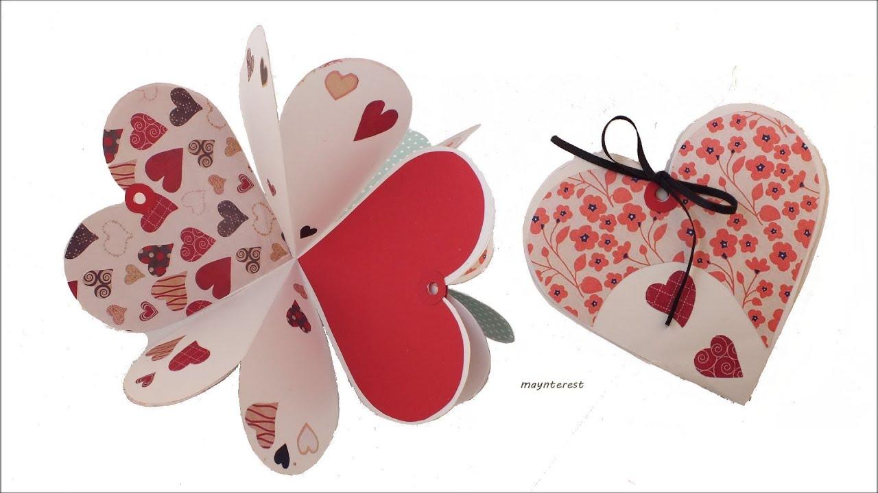 diy crafts heart cardalbum  valentine's day  youtube