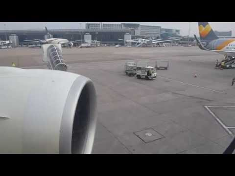 ETIHAD AIRWAYS 777-300ER, GE90-115B Engines. On board for push back, engine start, taxi & take-off