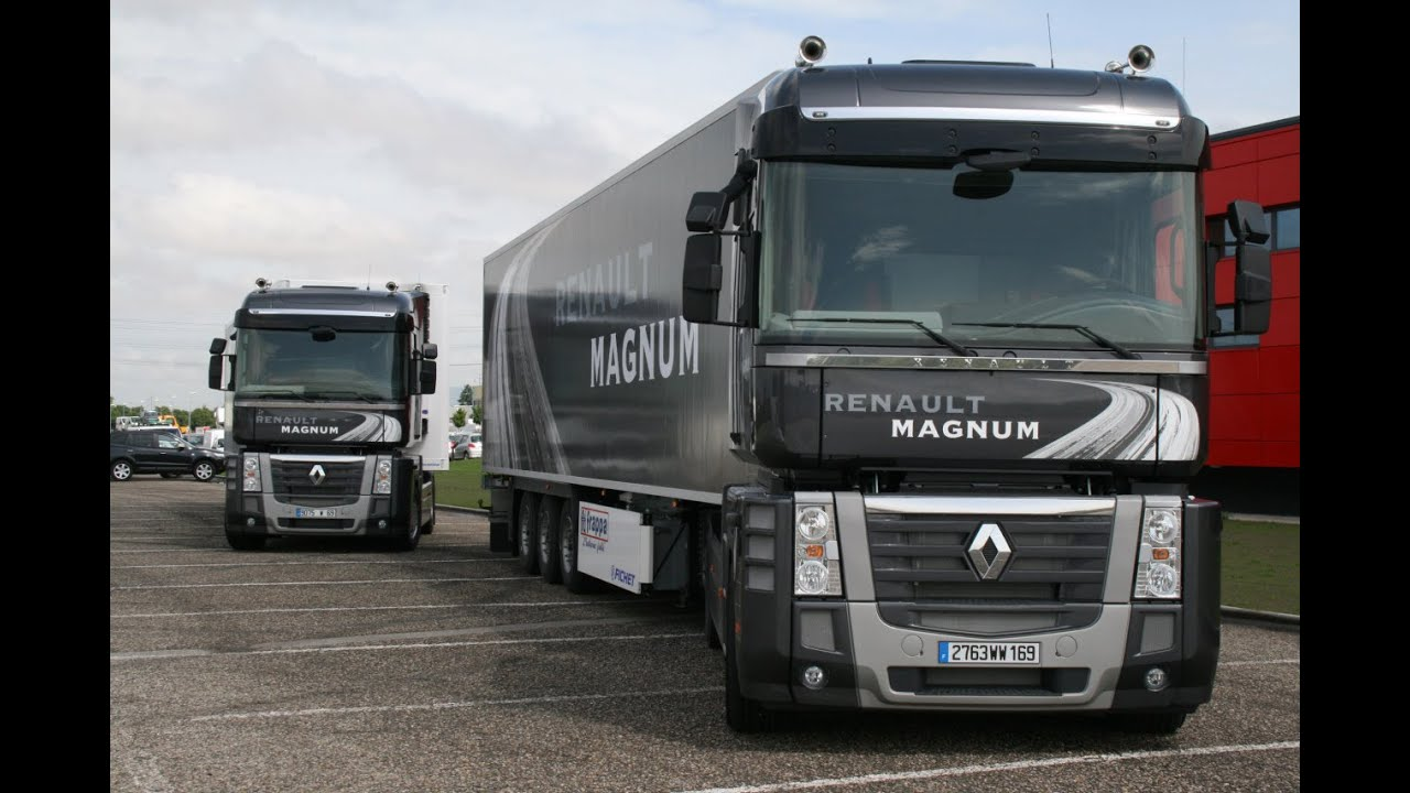 Balade en camion renault magnum excellence gopro session for Camion americain interieur