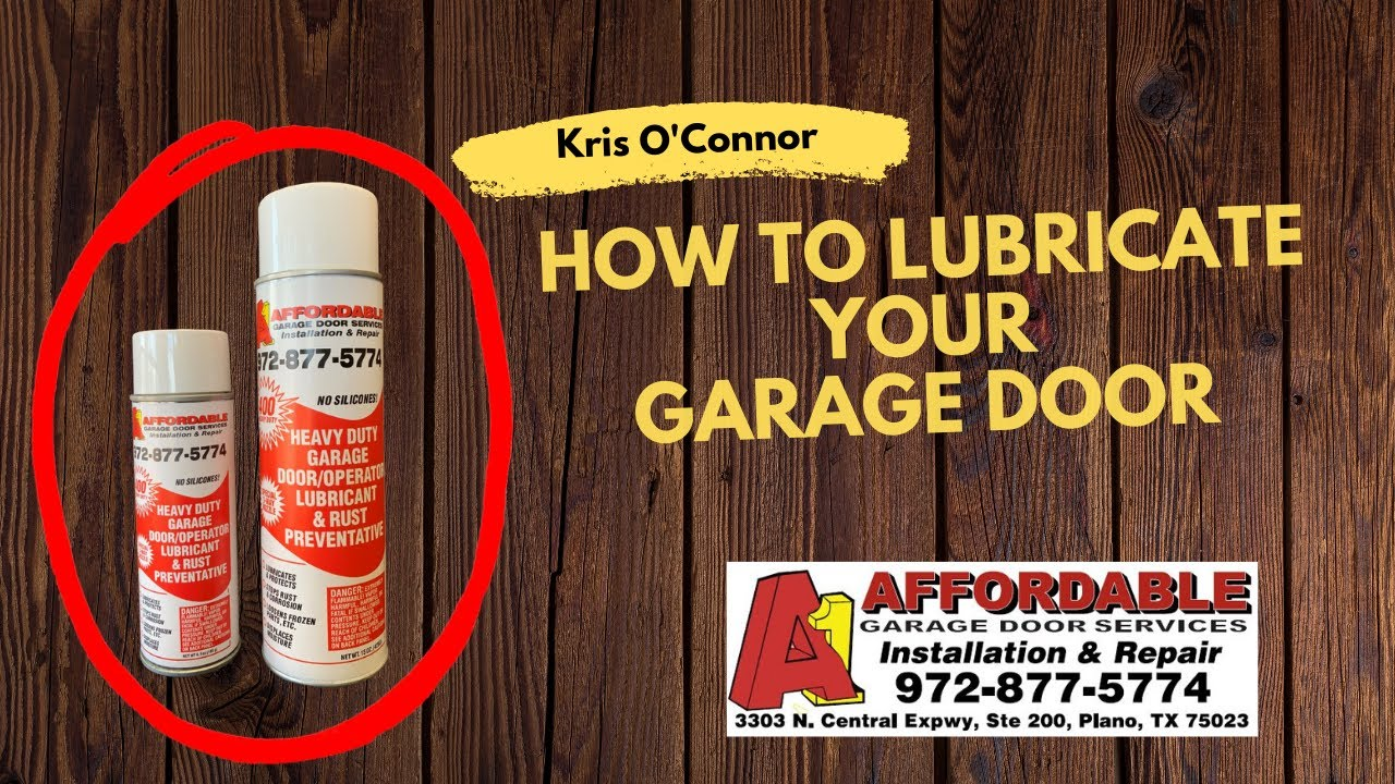How to lubricate your garage door correctly youtube how to lubricate your garage door correctly rubansaba
