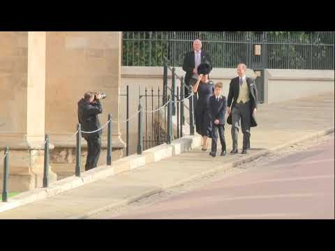 Prince Edward and Sophie, Countess of Wessex arrive at royal wedding