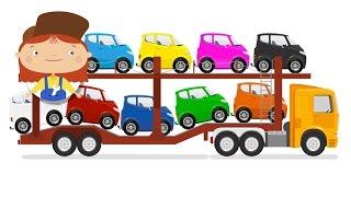 Eğitici çizgi film - Doktor Mac Wheelie - Araba taşıyıcısı - Renkleri ve sayılari öğrenelim
