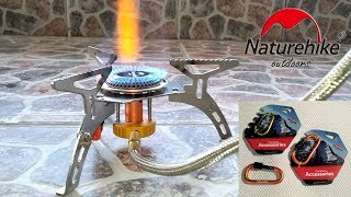 Naturehike Carabiners, Portable Outdoor Folding Gas Stove Unboxing/Hands-On/Demo