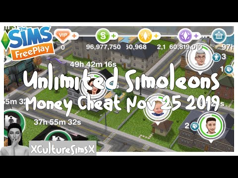 The Sims FreePlay - Unlimited Simoleons Money Cheat For The Cafe Grande Update| XCultureSimsX