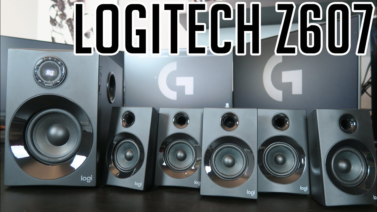 802417a91b3 LOGITECH Z607 NEW 160W 5.1 speakers - introduction - YouTube