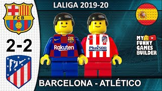 Barcelona vs Atletico Madrid 2 2 LaLiga 2019 20 in Lego Resumen All Goal Highlights Lego Football