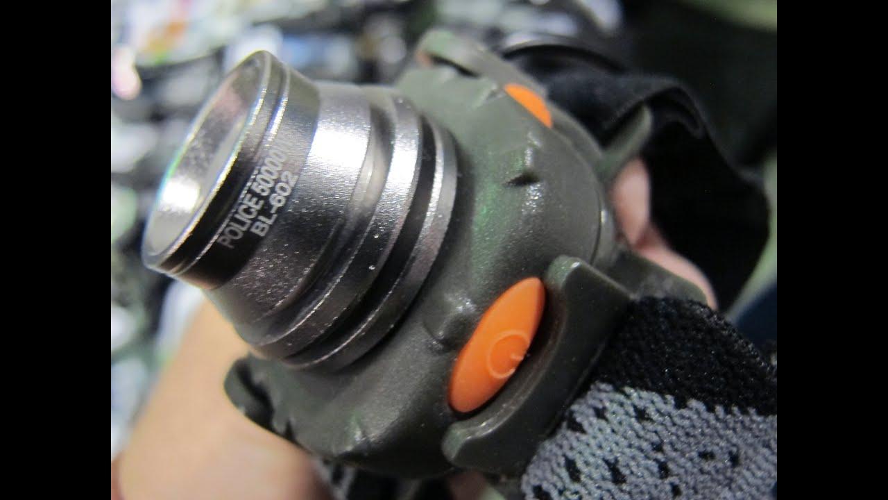 Купить фонарь для охоты, рыбалки и дайвинга в магазине action24. Yupard 605 мощный налобный фонарь с инфракрасной активацией 800 люм.