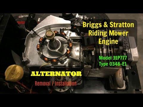 Briggs & Stratton Engine  Alternator and Voltage Regulator Replacement  YouTube