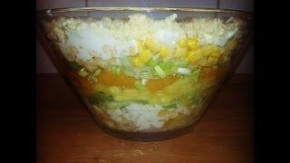 leckerer Schichtsalat / gut vorzubereiten / Partyrezepte