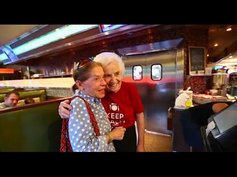 Waitress Sylvia Smith, a fixture at the Plainview Diner is retiring at 86