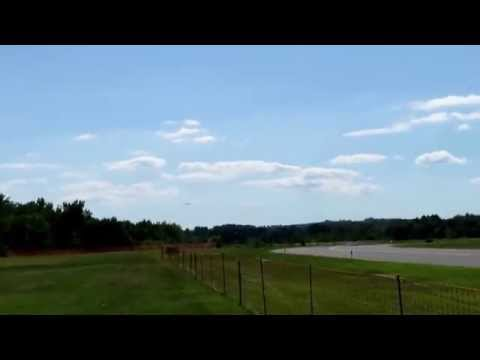 Consolidated B-24 Liberator Landing at Dutchess County Airport 8-21-2015