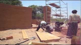 Shipungu Community School Rammed Earth Construction - Build It International