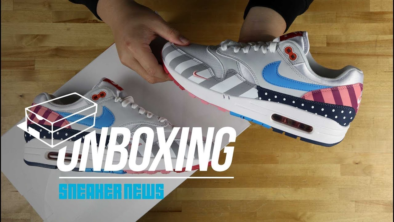 hot sale online eb713 7a4c3 Unboxing: Parra Nike Air Max 1