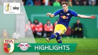 Halstenberg nutzt Gregoritsch-Aussetzer | Augsburg - Leipzig 1:2 n.V. | Highlights - DFB-Pokal 18/19