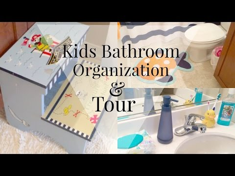 Bathroom organization: Kids edition + DIY