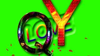 Q Love Y Letter Green Screen For WhatsApp Status | Q & Y Love,Effects chroma key Animated Video