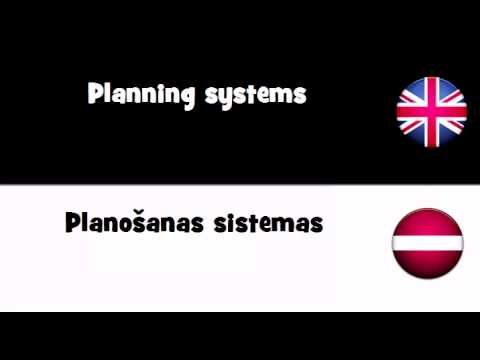 TRANSLATE IN 20 LANGUAGES = Planning systems