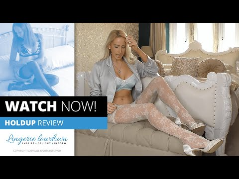 Download PREVIEW ONLY : Samantha Alexandra reviews Charnos floral net ivory lace holdups