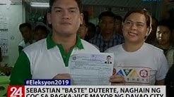 Sebastian 'Baste' Duterte, naghain ng COC sa pagka-vice mayor ng Davao City